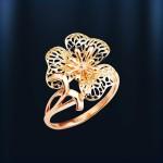 Кольцо Незабудка. Русское золото