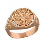Кольцо мужское печатка. Русское золото