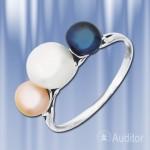 """Кольцо """"Эстония"""" из серебра с жемчугом."""