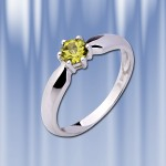 Кольцо с хризолитом. Русское золото