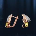 Золотые серьги. Русское золото, циркон