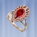 Серебряное кольцо. Циркон