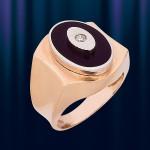 """Мужское кольцо из золота """"Орлиный Глаз"""""""