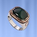 Мужское кольцо с хризопразом