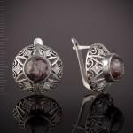 Серьги серебряные. Яшма