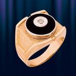 """Мужское кольцо из золота """"Круг"""""""