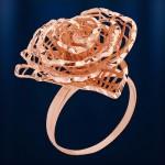Кольцо Роза. Русское золото
