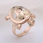 Кольцо золотое Черепашка
