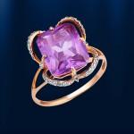 Золотое кольцо Александрит
