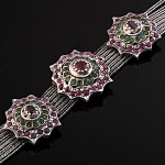 Серебряный браслет Рубины & Изумруды