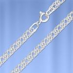 Серебряная цепочка Ромбо двойной