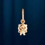 Медвежонок - подвеска из русского золота 585°