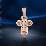 Нательный крестик Ладанка. Золото