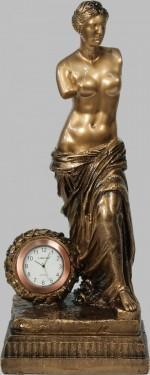 Бронзовая статуэтка Венера с часами