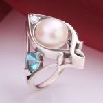 Серебряное кольцо Ратуша. Жемчуг