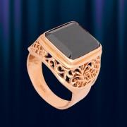 """Кольцо -Печатка золотая """"Фианит"""""""