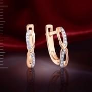 Серьги с бриллиантами. Русское золото