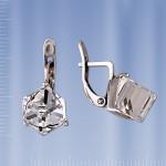Бижутерия Серьги с кристаллом