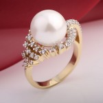 Жемчуг & Бриллианты. Золотое кольцо