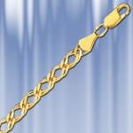 Серебряная цепочка Ромбо с позолотой