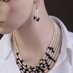 Ожерелье и серьги. Жемчуг & Оникс