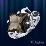 Кольцо из серебра с раухтопазом