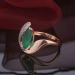 Кольцо с агатом серебряное