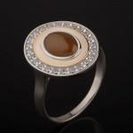Кольцо с Улекситом. Золото & Серебро