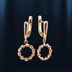 Золотые серьги-подвески