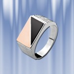 """Мужское кольцо-печатка """"Феликс"""". Золото, серебро"""