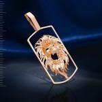 Подвеска Лев. Русское золото