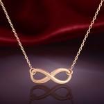 Золотое колье Символ бесконечности