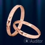 """Золотое обручальное кольцо """"Колос"""""""