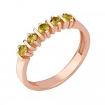 Кольцо золотое с султанитом. ХАМЕЛЕОНЫ