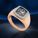 Золотой перстень мужской. Скорпион