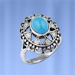 Кольцо серебряное Бирюза
