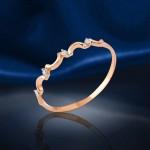 Кольцо Неделька с бриллиантами. Русское золото