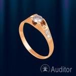 Кольцо из золота 585° с цирконами