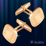 Запонки из русского золота 585 пробы