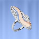 Кольцо Индиго. Серебро & Золото