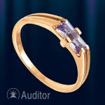 Кольцо из золота585 с аметистом.
