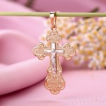 Крестик золотой с распятием