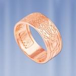 Серебряное кольцо оберег