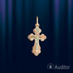 Крестик нательный из русского золота