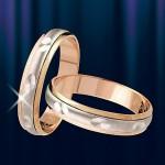 """Кольцо золотое обручалка """"Проталина"""""""