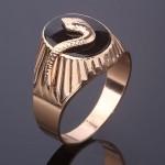 Перстень мужской. Русское золото & Оникс