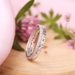 Кольцо - оберег Спаси и сохрани. Белое золото