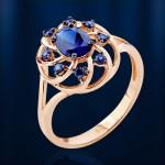 Золотой Век кольцо с сапфиром