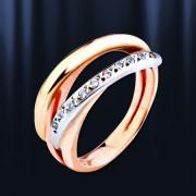 Кольцо с цирконами. Русское золото