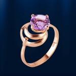 Кольцо золотое. Аметист
